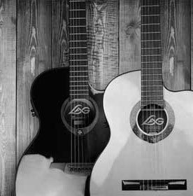 Black-and-Blond-Acoustic-Guitars