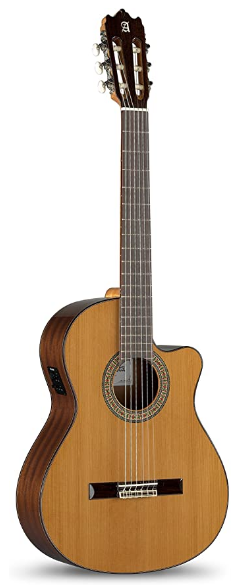 Alhambra 6 String Acoustic-Electric Guitar, Right, Solid Red Cedar, Cutaway