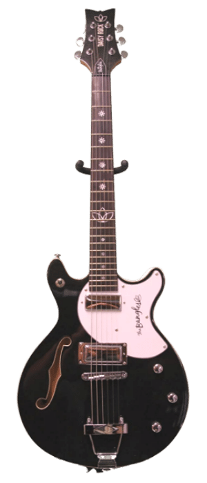 Daisy Rock Bangles Signature Model Guitar, Metallic Black - best guitar for small hands