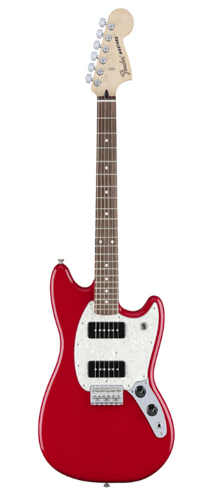 Fender 6 String Mustang 90, Rosewood Fingerboard, Torino Red - best guitar for small hands