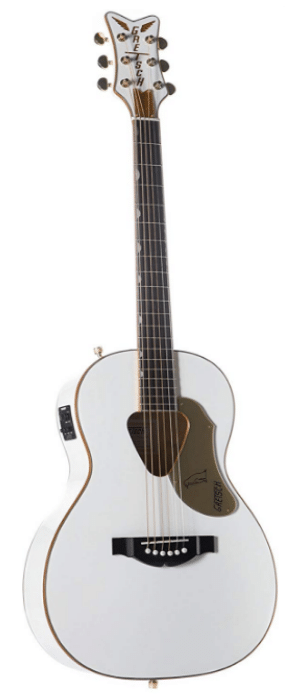 Gretsch Guitars G5021WPE Rancher Penguin Parlor Acoustic/Electric White - great guitar for short fingers