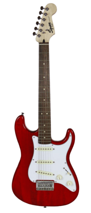 Squier by Fender Short Scale 24 Stratocaster - Transparent Red