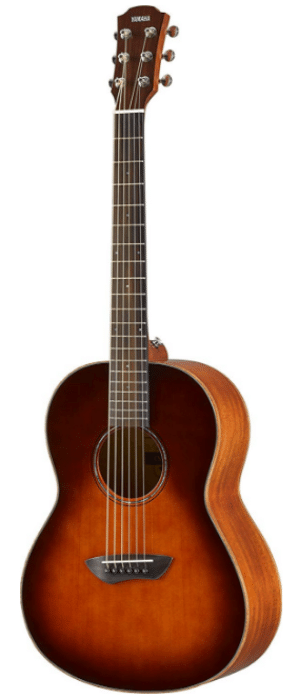 Yamaha CSF3M TBS All-Solid Parlor Size Acoustic Guitar, Old Violin Sunburst - T