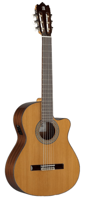 Alhambra 6 String Acoustic-Electric Guitar, Solid Red Cedar, Cutaway