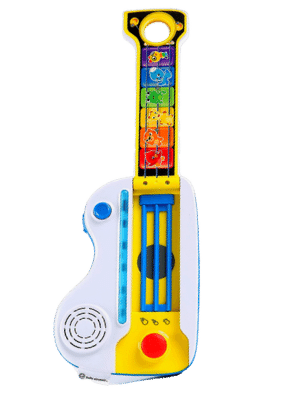 Baby Einstein Flip & Riff Keytar Musical Guitar and Piano Toddler Toy with Lights and Melodies - Ages 12 months and up