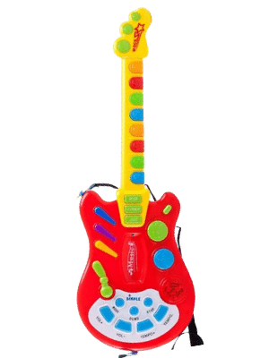 Dimple Kids Handheld Musical Electronic Toy Guitar for Toddlers 3 years and up