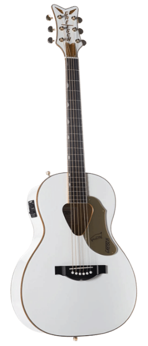 Gretsch Rancher Penguin Parlor Acoustic-Electric Guitar - White