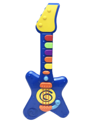 Hunson Jump'n Jive Pre-School Rock'n Roll Light and Sound Guitar Play Set for toddlers
