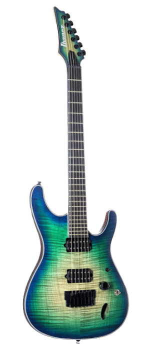 Ibanez Iron Label SIX6FDFM Electric Guitar Blue Space Burst - best metal guitar