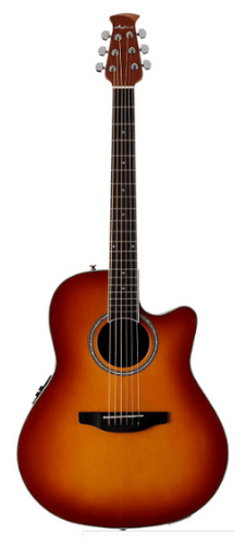Ovation Applause Acoustic-Electric Guitar - Honey Burst, Mid-Depth