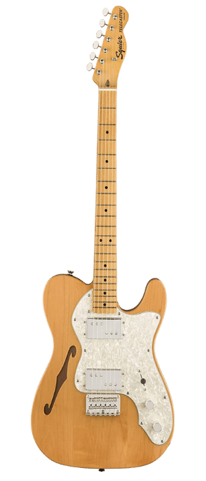 Squier by Fender Classic Vibe 70's Telecaster Thinline Semi Hollow Electric Guitar Under 500