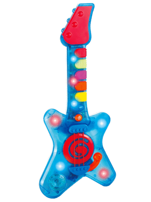 infunbebe Rock N Roll Guitar Little Rock Star Guitar Toy Instrument with Lights & Music for Infant from 2 Years & Up