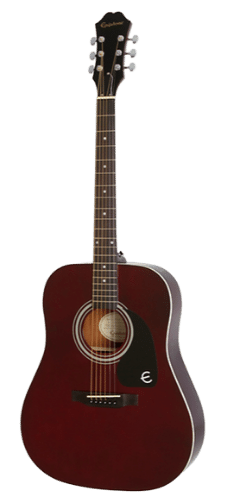 Epiphone PR-150 Best Acoustic Guitar Under 200 - Wine Red