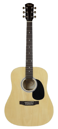 Fender Squier Dreadnought Acoustic Guitar - Natural Bundle