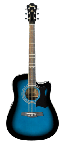 Ibanez V70CE -Affordable Acoustic-Electric Guitar Transparent Blue