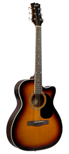 Mitchell O120CESB Auditorium Acoustic-Electric Guitar 3-Color Sunburst