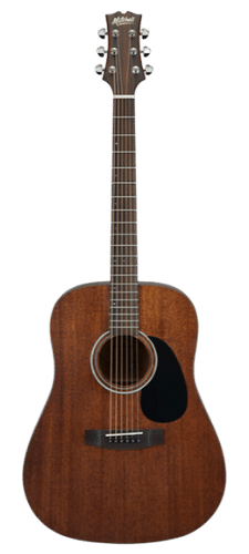 Mitchell T331 Solid Top Mahogany Dreadnought Cheap Acoustic Guitar