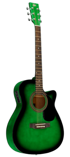 Rogue RA-090 Concert Cutaway Cheap Acoustic-Electric Guitar - Gree