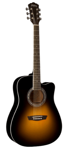 Washburn WA90CE Dreadnought - Best Budget Acoustic Electric Guitar