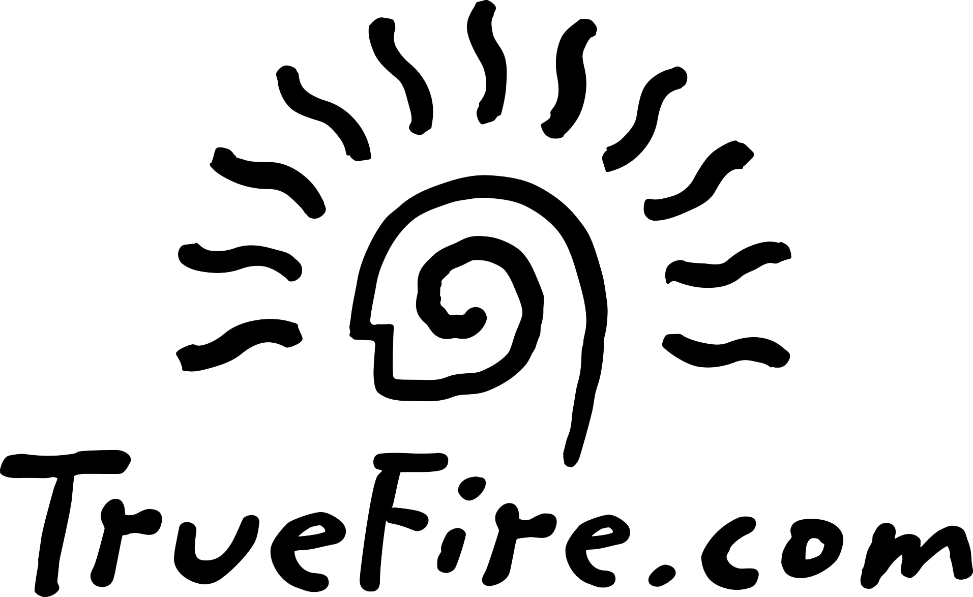 TrueFire Logo - Spiral Gun for Best Online Guitar Lessons