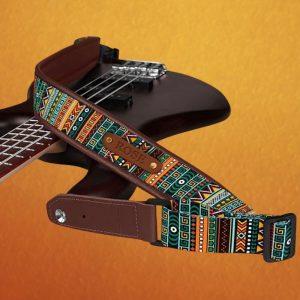 Aztec Striped Pattern Guitar Strap