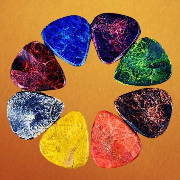 Colorful Dyed Wood Guitar Pick