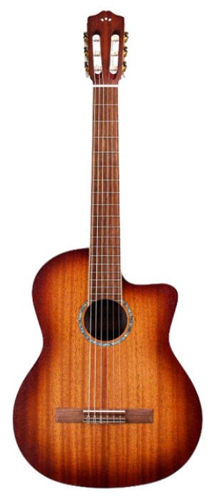 Cordoba C4-CE Edge Burst Cutaway Classical Acoustic-Electric Nylon String Guitar, Iberia Series