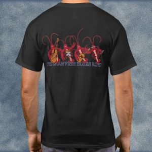 Crawfish Blues Band with Blues Guitarist 2-Sided T-Shirt