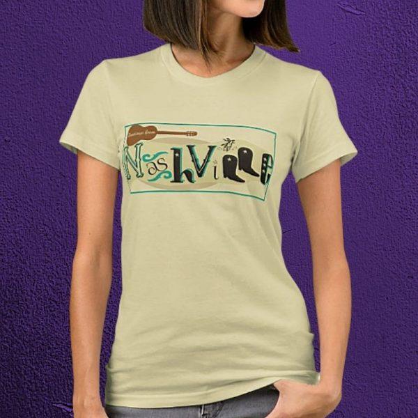 Creative Country Guitar Nashville T-Shirt