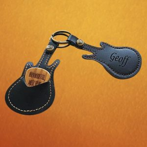Engraved Wood Guitar Pick w_ Guitar Shaped Case