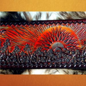 Fiery Sunset or Sunrise Over Paradise Guitar Strap