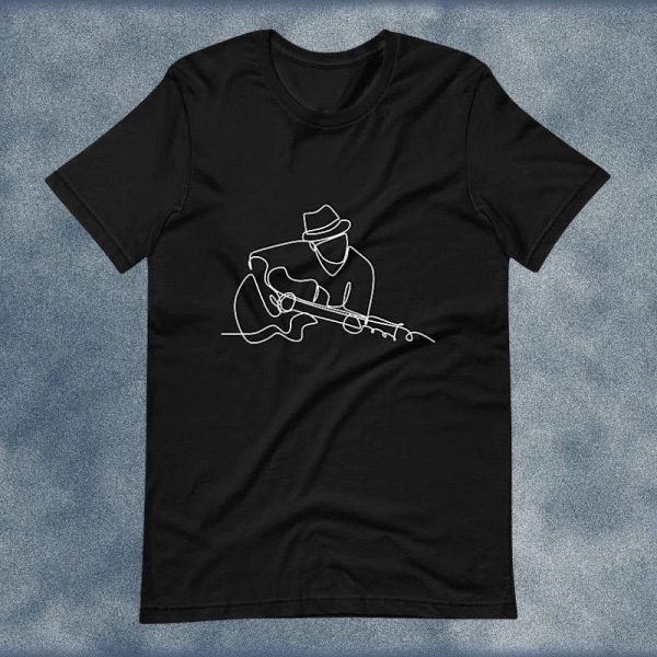 Guitarist Line Drawing T-Shirt