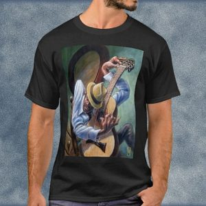 Hep Cat Jazz Guitarist Tuning His Guitar T-Shirt