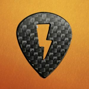 Lightning Bolt Jazz Carbon Fiber Guitar Pick