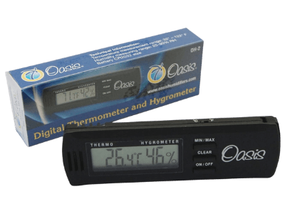 Oasis OH-2 Digital Hygrometer with clip