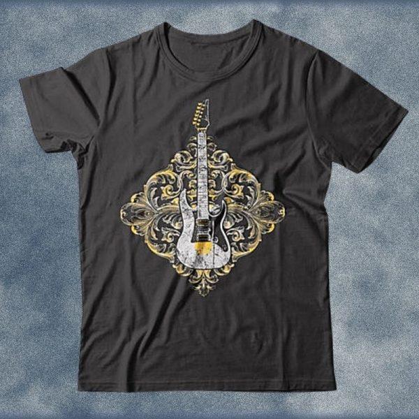 Ornate Classic Rock Ibanez Electric Guitar T-Shirt