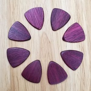 Purple Heart Wood Guitar Picks