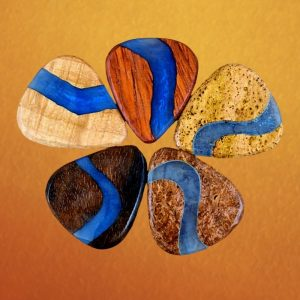 Resin River Wood Guitar Picks