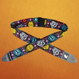 SW Sci-fi + Day of the Dead Crossover Guitar Strap
