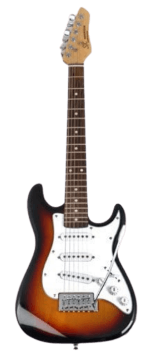 SX RST 12 3TS Half Size Short Scale Sunburst Guitar Package