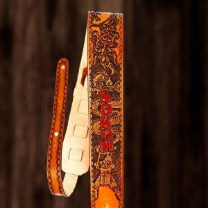 Samurai and Dragon Personalized Guitar Strap