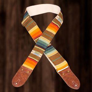 Southwest Multi Color Saddle Blanket Guitar Strap