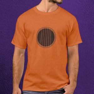 Strings Over Soundhole - Minimalist Guitar T-Shirt
