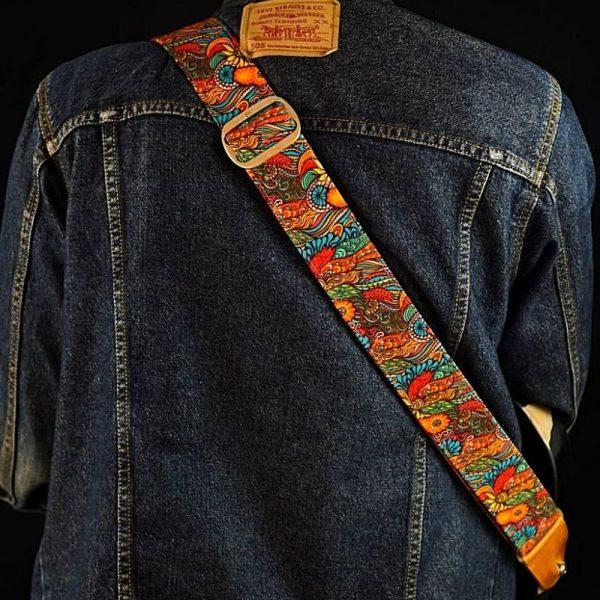 Vis Sui Generis Colorful Vintage Guitar Strap