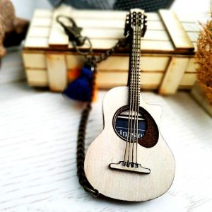 Acoustic Guitar SD Card Holder and Keychain