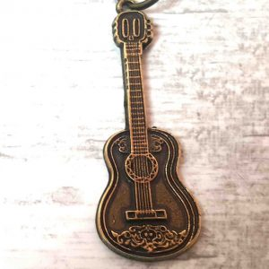 Bronze Classical Guitar Keychain