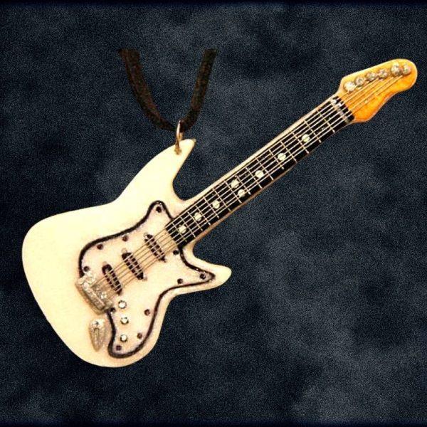Custom Ordered Handmade Clay Guitar Pendant