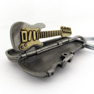 Duo-tone Metal Electric Guitar Keychain - Strat