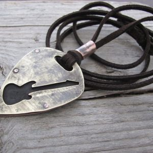 Handmade Industrial Guitar Necklace