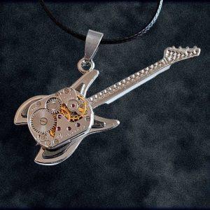 Industrial Steampunk Guitar Necklace